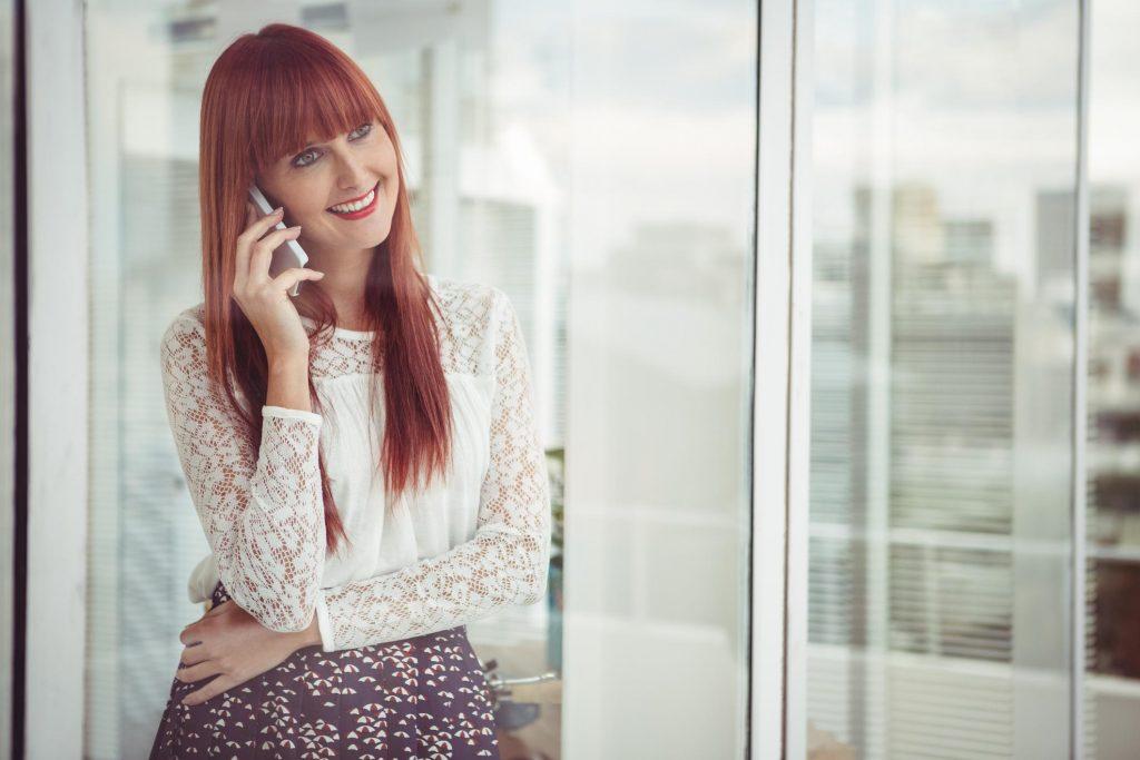 customer service talking on the phone